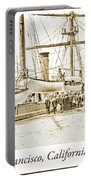 San Francisco Wharf, 1903, Vintage Photograph Portable Battery Charger