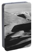 Monochrome Sand Dunes And Rocky Mountains Panorama Portable Battery Charger
