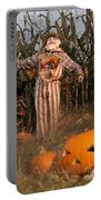 Scarecrow In A Corn Field Portable Battery Charger