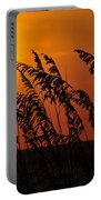 Sea Oats At Sunset Portable Battery Charger