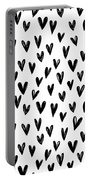 Seamless Pattern With Hand Drawn Hearts.  Portable Battery Charger