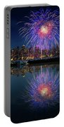 Seattle Skyline And Fireworks Portable Battery Charger