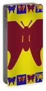 Serendipity Butterflies Brickgoldblue 5 Portable Battery Charger