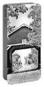 Shimanek Covered Bridge -surreal Bw Portable Battery Charger