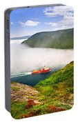 Ship Entering The Narrows Of St John's Portable Battery Charger