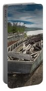 Shipwreck At Neys Provincial Park Portable Battery Charger