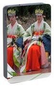 Shrine Maidens From Tsurugaoka Hachimangu Shrine Portable Battery Charger