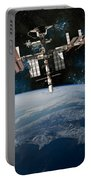 Shuttle Docked At Space Station Portable Battery Charger