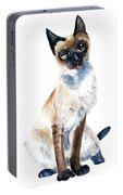 Siamese Cat Painting Portable Battery Charger