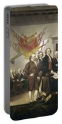 Signing The Declaration Of Independence Portable Battery Charger by John Trumbull