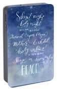 Silent Night Holy Night Portable Battery Charger