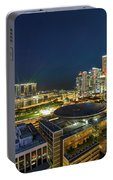 Singapore Cityscape At Night Portable Battery Charger