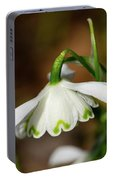 Single Snowdrop Portable Battery Charger
