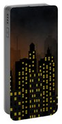 Skyscrapers - Panorama Of Modern Skyscraper Town Portable Battery Charger