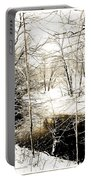 Snow-covered Stream Banks, Pennsylvania Portable Battery Charger