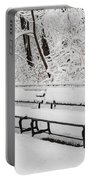 Snow In Central Park Nyc Portable Battery Charger