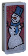 Wood Burned Snowman Series Portable Battery Charger