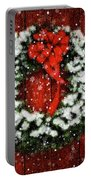 Snowy Christmas Wreath Card Portable Battery Charger