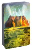 Spitting-fly Geyser In Nevada Portable Battery Charger