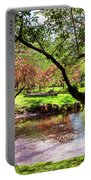 Spring At Tappan Park Pond Portable Battery Charger