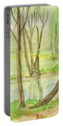 Spring Landscape, Painting Portable Battery Charger
