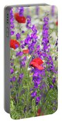 Spring Meadow With Wild Flowers Portable Battery Charger
