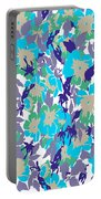 Spring Summer Flowers In Vintage Style. Seasons Floral Pattern Portable Battery Charger