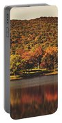 Squantz Pond In Autumn Portable Battery Charger