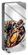 Stewed Fresh Mussels In Spicy Garlic Wine Seafood Sauce Portable Battery Charger