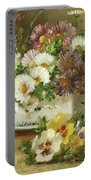 Still Life Of Flowers Portable Battery Charger