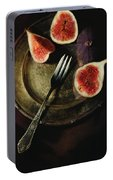 Still Life With Fresh Figs Portable Battery Charger