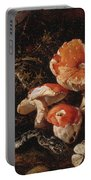 Still Life With Serpents, Fly Agarics And Thistles Portable Battery Charger
