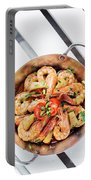 Stir Fry Prawns In Spicy Asian Pineapple And Herbs Sauce Portable Battery Charger