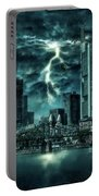 Storm Over Frankfurt Portable Battery Charger