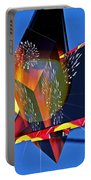 Street Light And Fireworks As Art Portable Battery Charger