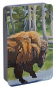 Strutting Along, Yellowstone Portable Battery Charger by Erin Fickert-Rowland