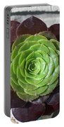 Succulent Rose Portable Battery Charger