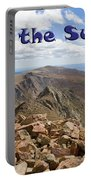 Summit Of Mount Bierstadt In The Arapahoe National Forest Portable Battery Charger