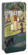 Sunday Afternoon On The Island Of La Grande Jatte Portable Battery Charger by Georges Pierre Seurat