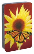 Sunflower Monarch Portable Battery Charger