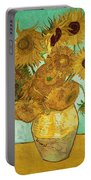 Sunflowers By Van Gogh Portable Battery Charger