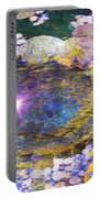 Sunglint On Autumn Lily Pond II Portable Battery Charger