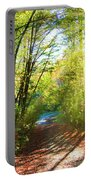 Sunny Autumn Path Portable Battery Charger
