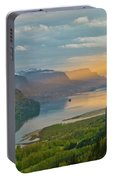 Sunrise At Columbia River Gorge Portable Battery Charger