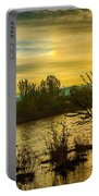 Sunrise On The Payette River Portable Battery Charger