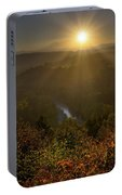 Sunrise Over Mount Hood And Sandy River Portable Battery Charger