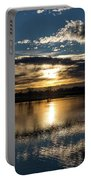 Sunrise Reflections On The Great Plains Portable Battery Charger