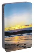 Sunrise Seascape And Crepuscular Rays Portable Battery Charger