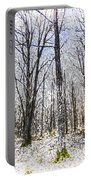Sunrise Snow Forest Art Portable Battery Charger