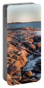 Sunset At Ocean Point, East Boothbay, Maine  -230204 Portable Battery Charger